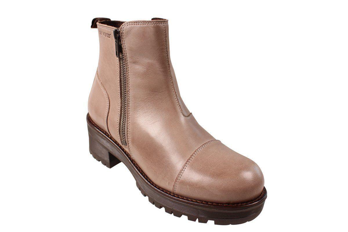 Ten Points Clarisse Taupe Chelsea Boot Zip