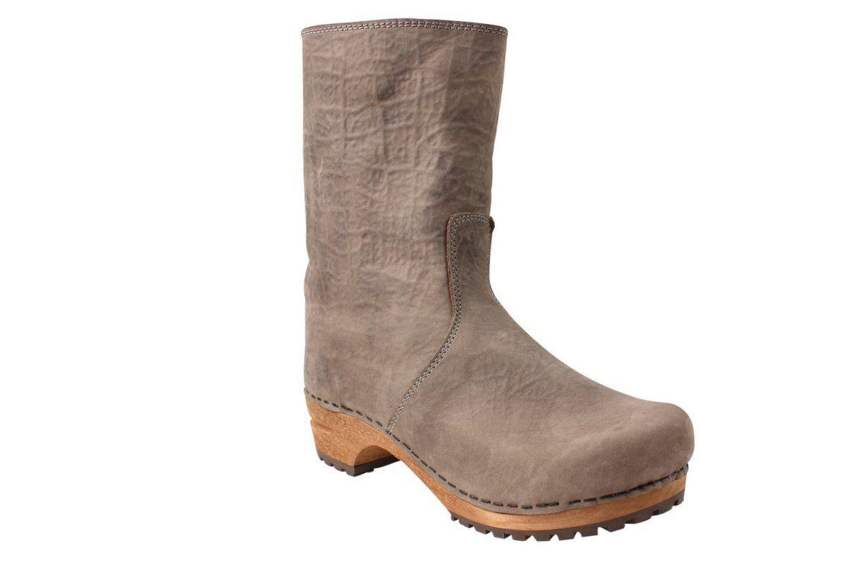 Sanita Juki Wood Clog Boot Grey