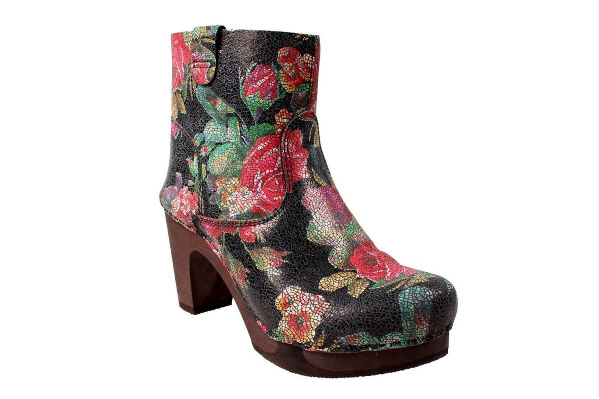 Sanita Safran Ankle Boot Flex Sole in Floral