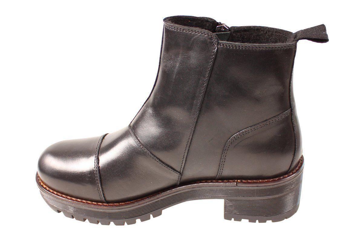 Ten Points Clarisse Black Chelsea Boot Zip