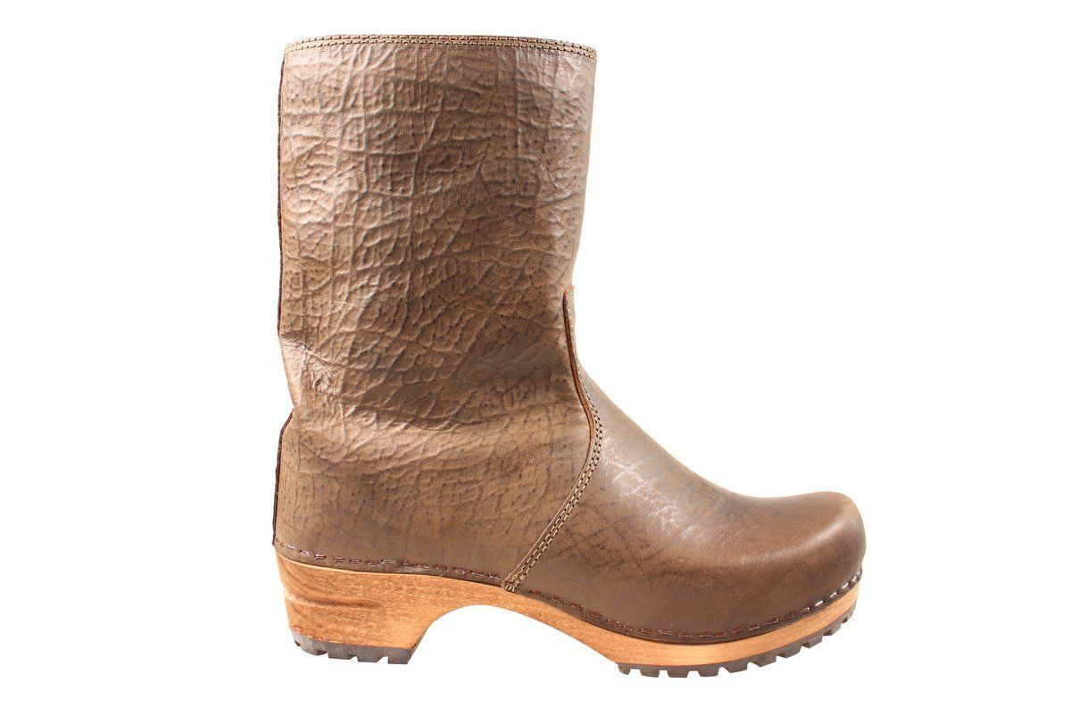 Sanita Juki Wood Clog Boot Olive