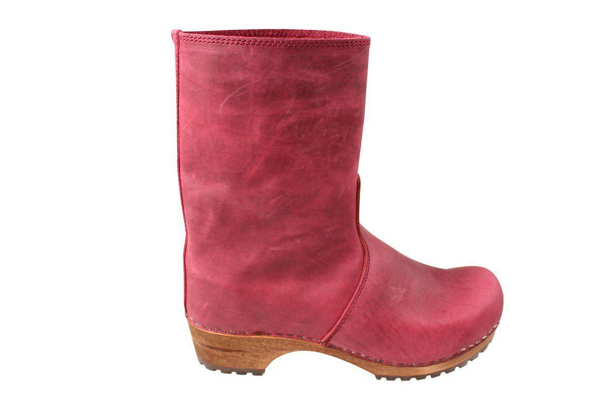 Sanita Juki Wood Clog Boot Dark Red