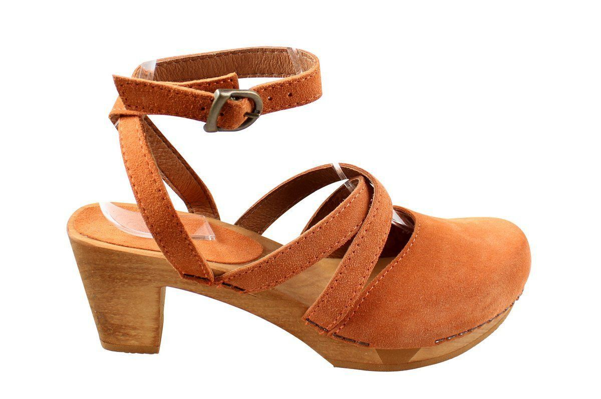 Sanita Tinja in Terracotta Suede