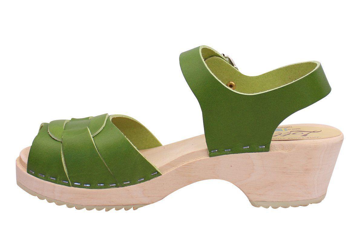 Low Peep Toe Green