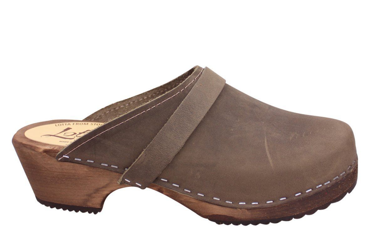 Classic Taupe Oiled Nubuck on Brown Base