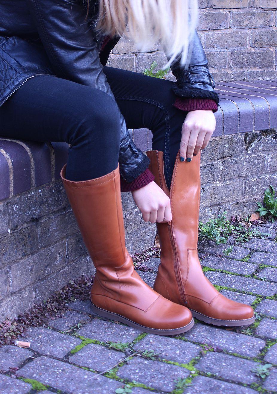 Ten Points Carol Cognac Knee High Boots