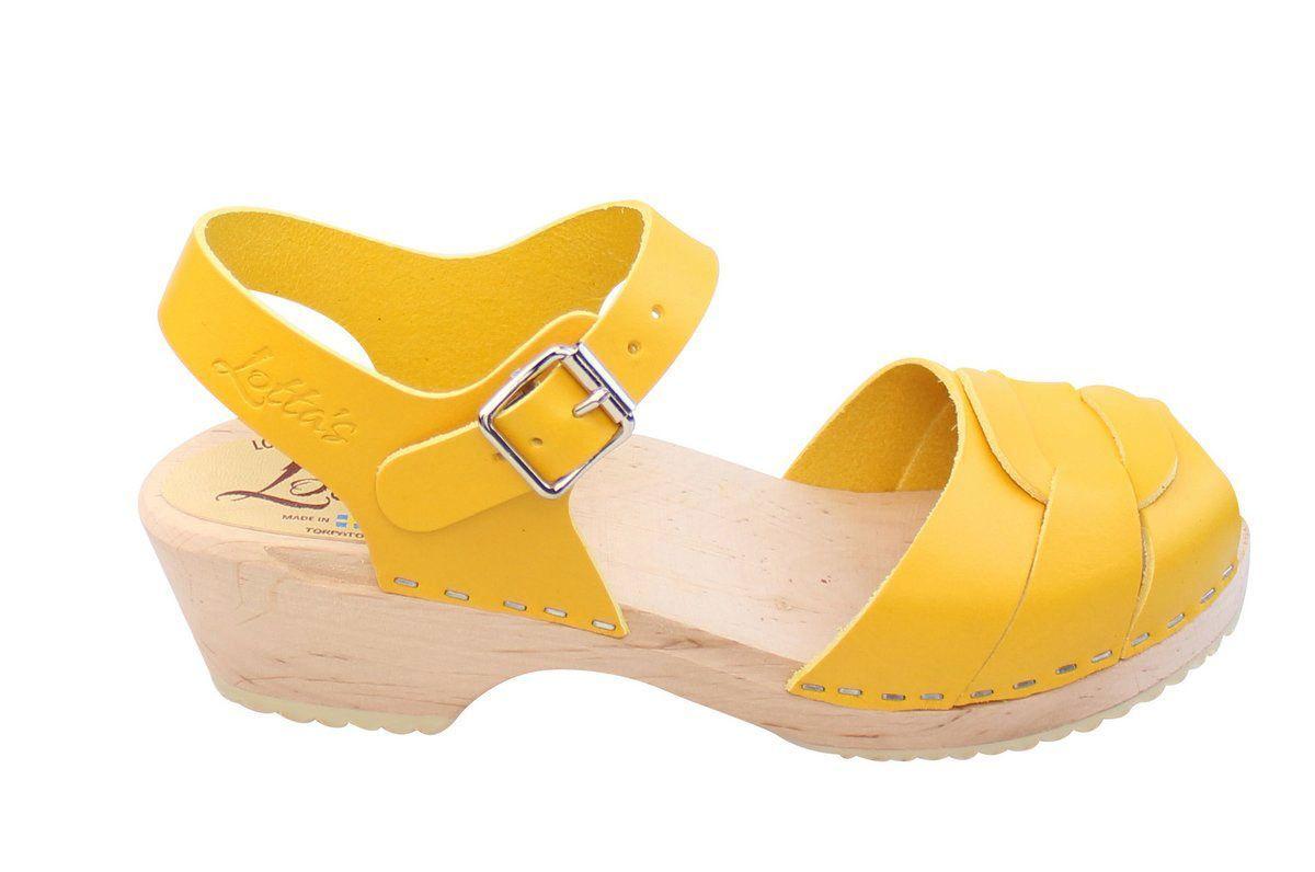 Low Peep Toe Yellow