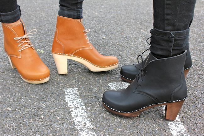 Maguba Casablanca High Heel Clog Boot Black style