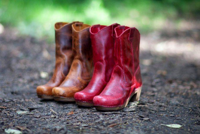 Sanita Laureen Cognac Clog Boots