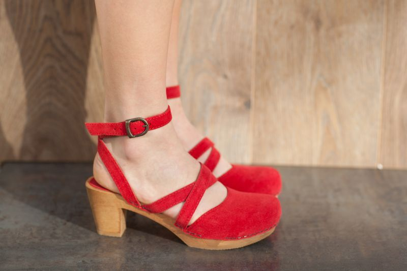 Sanita Tinja in Red Suede
