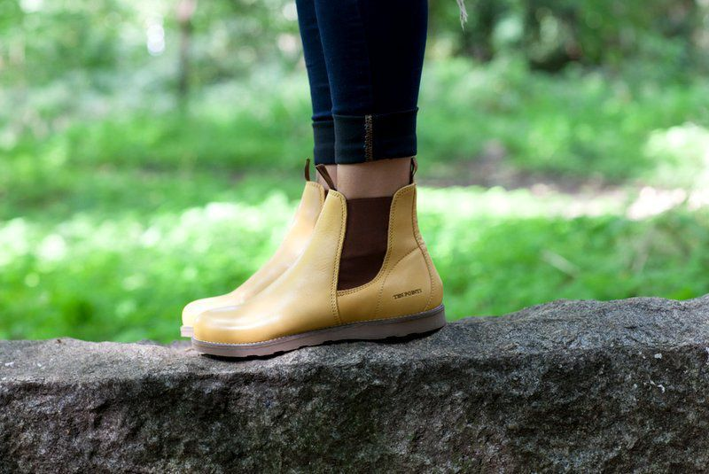Ten Points Carol Mustard Yellow Chelsea Boot