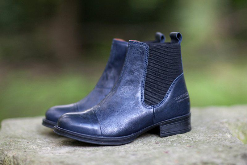 Ten Points Pandora Dark Blue Chelsea Boot
