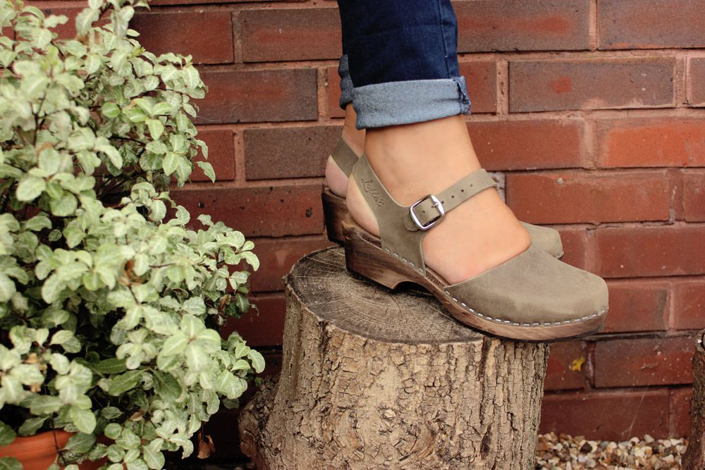 Low Wood in Taupe Oiled Nubuck Leather on Brown Base Seconds