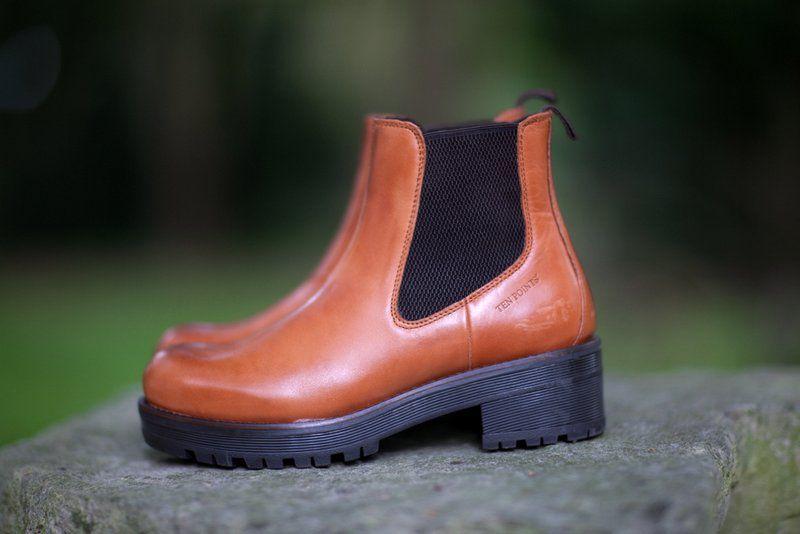 Ten Points Clarisse Cognac Chelsea Boot Elasticated