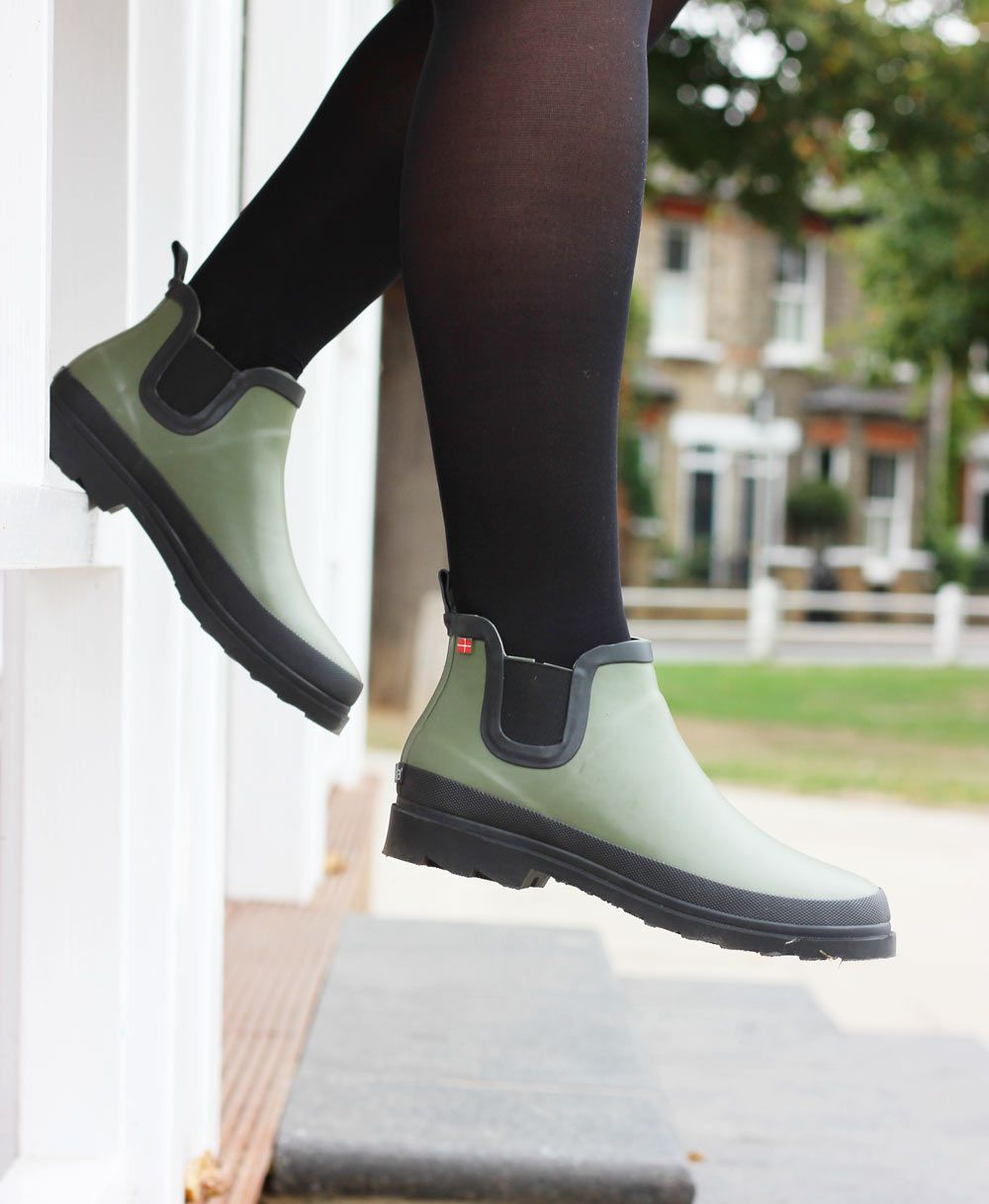 Sanita Felicia Ankle Welly Olive Green