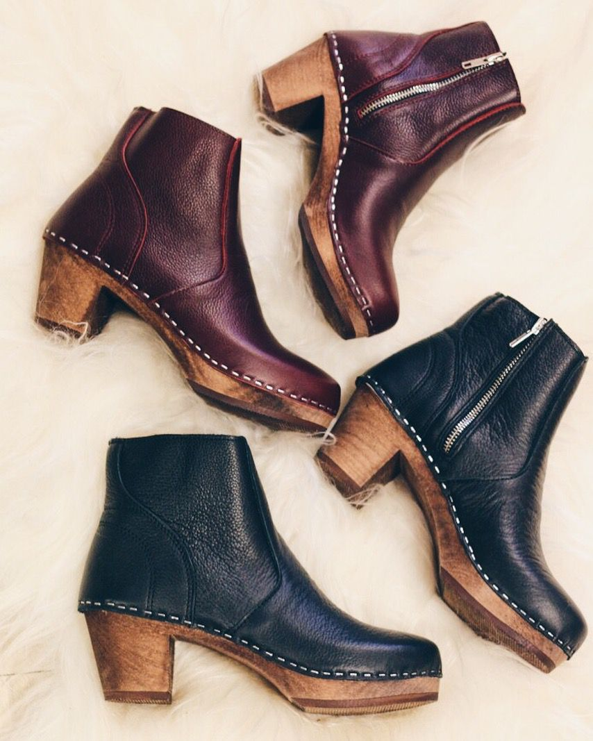 Maguba Auckland Black Clog Ankle Boots