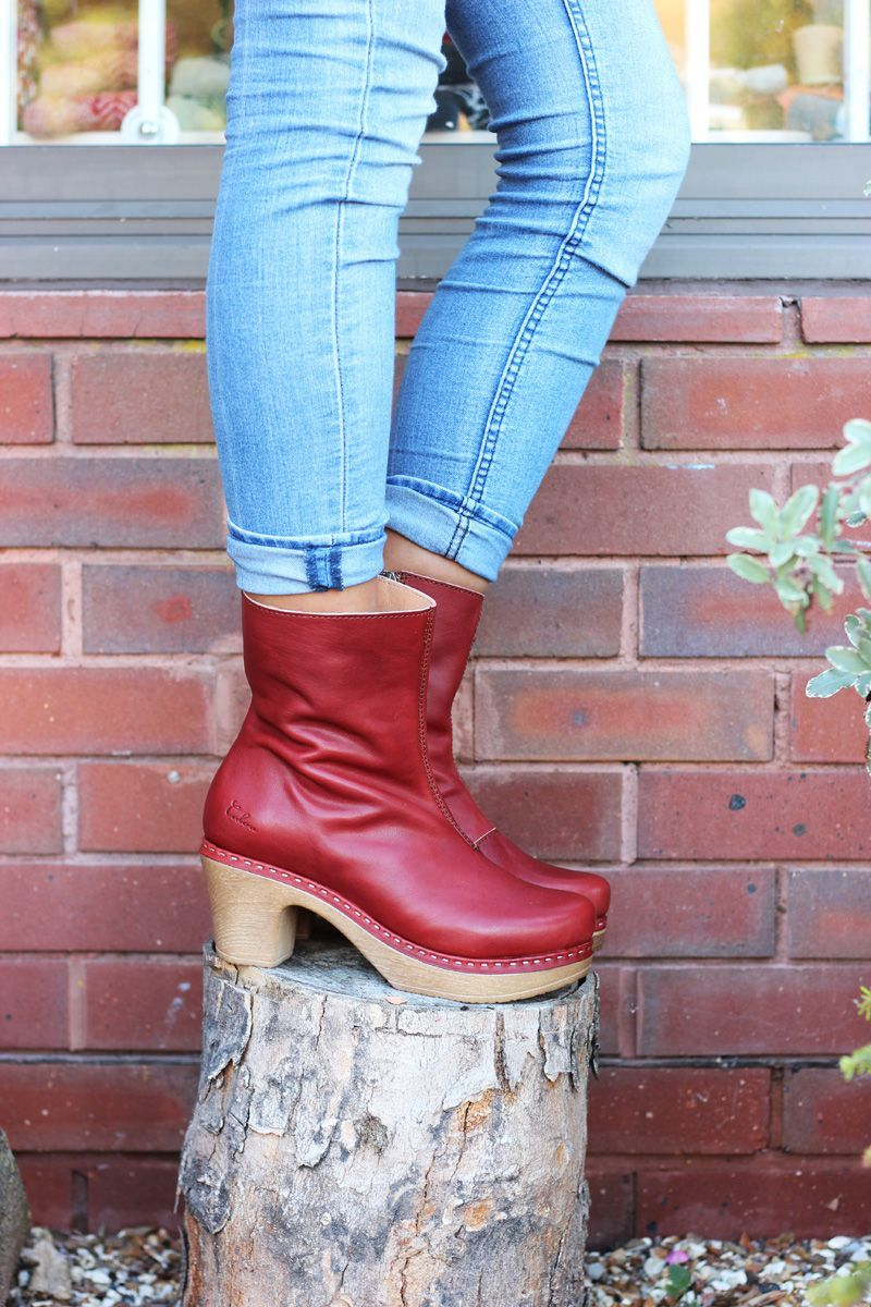 Calou Molly Boot Rust Red