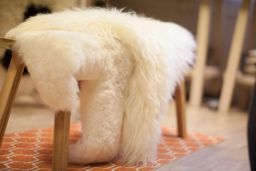 Natural White Icelandic Sheepskin Large