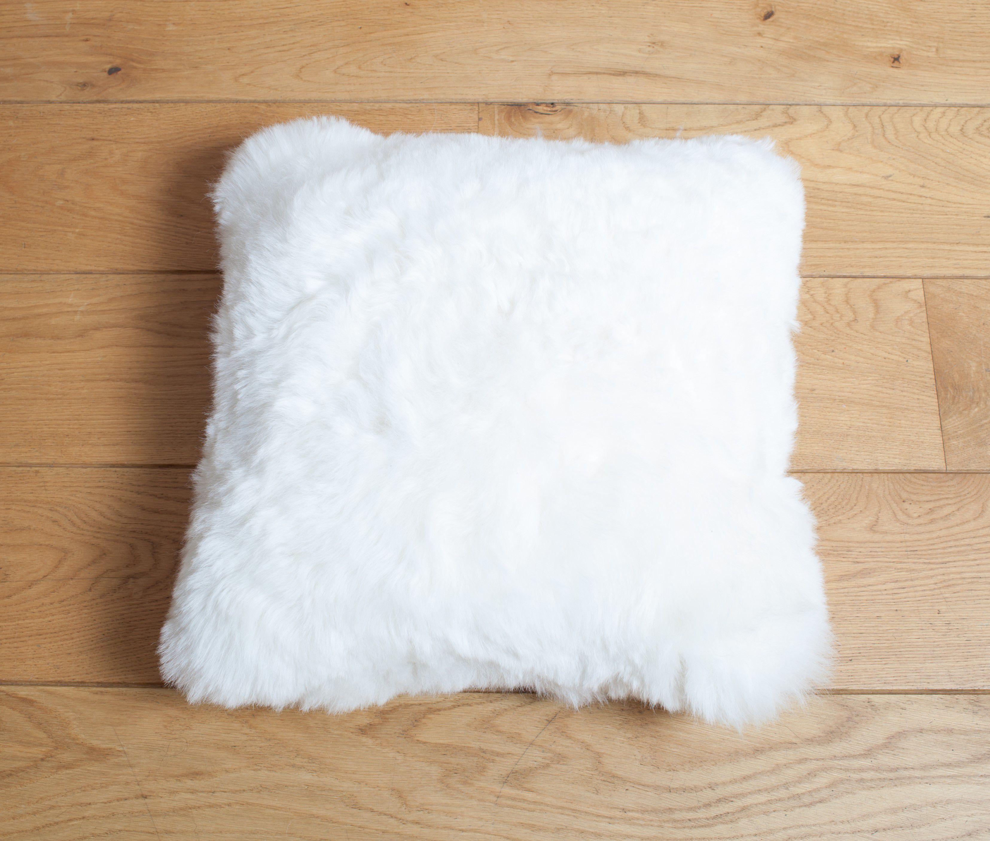 Sheepskin Cushion Shorn White