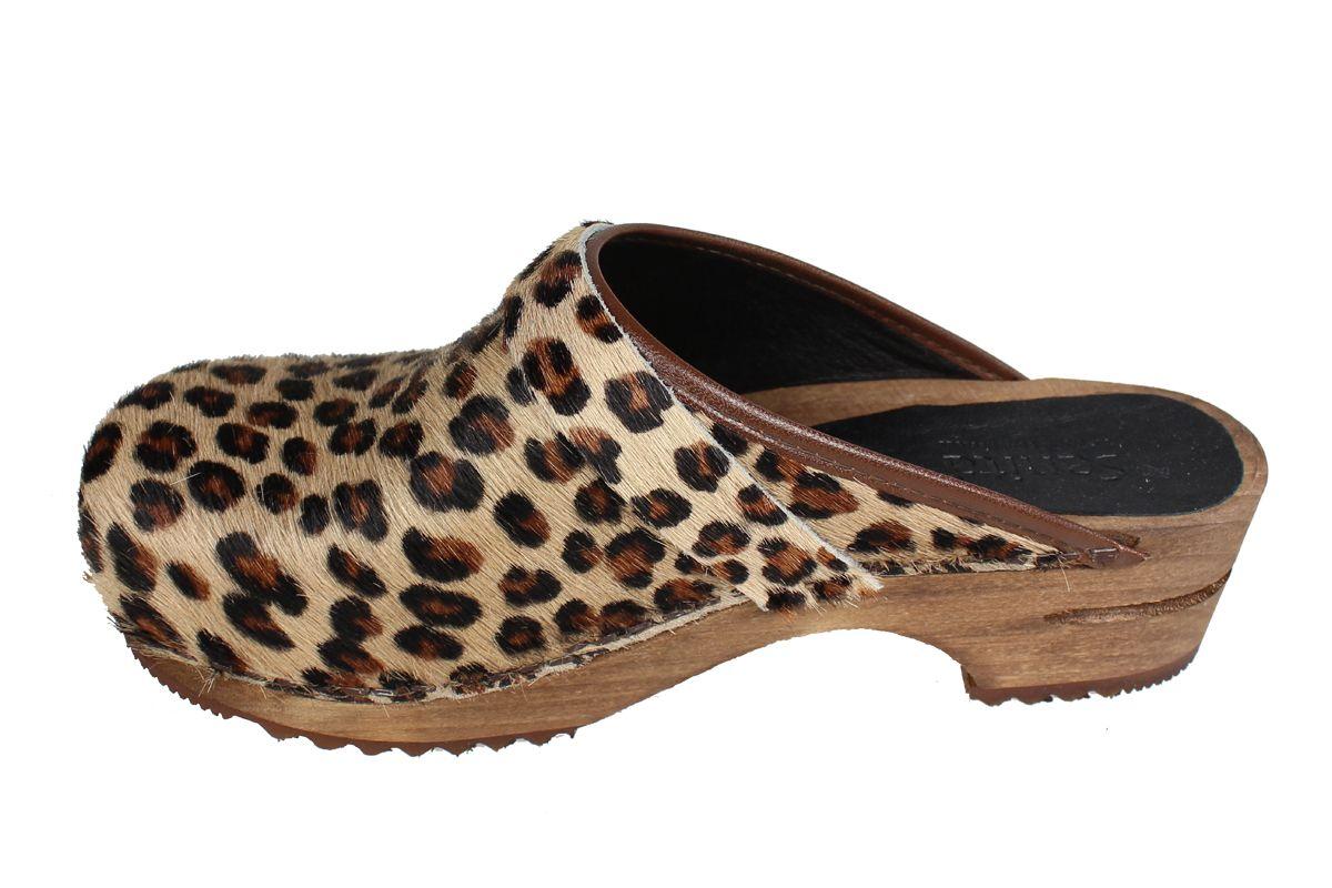 Sanita Caroline Classic Clog in Leopard