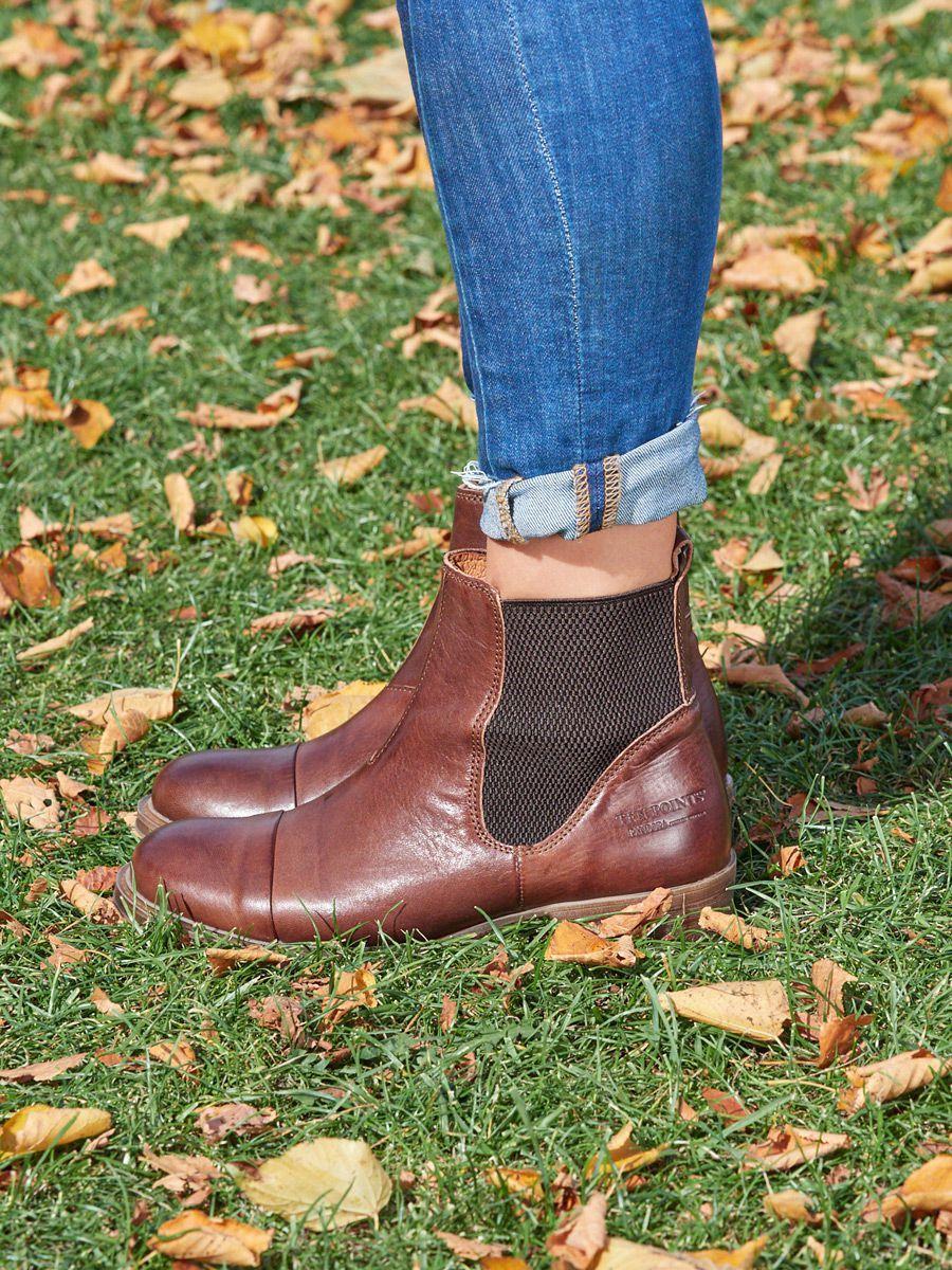 Ten Points Pandora Brown Chelsea Boot Short