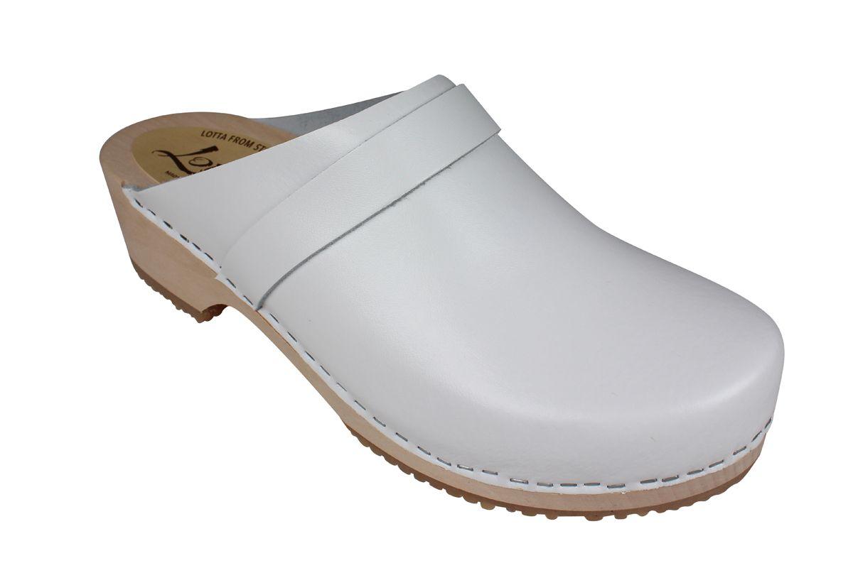 Nestor Classic Mens Clog PU White