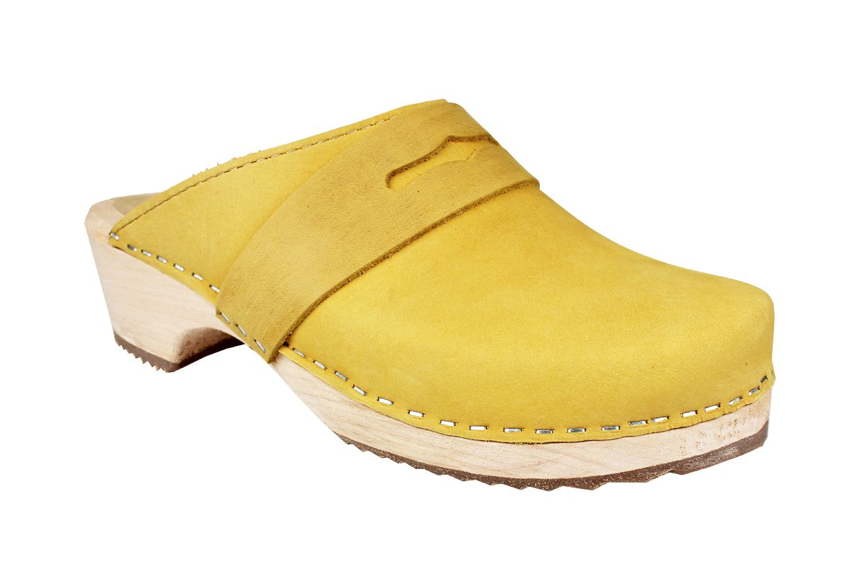 Classic Penny Clog Yellow Oiled Nubuck Leather