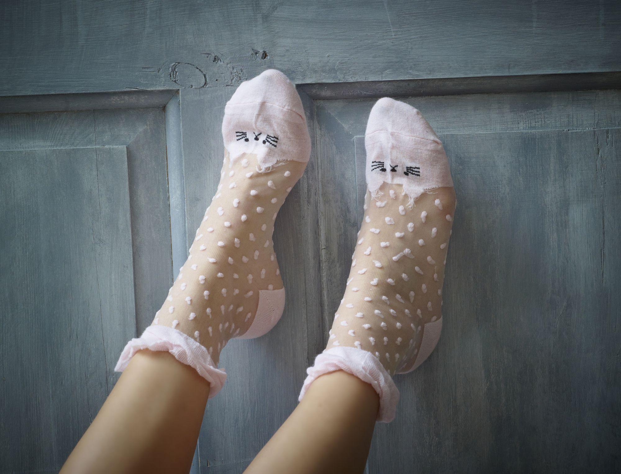 Pink Panther Sheer Socks X 2