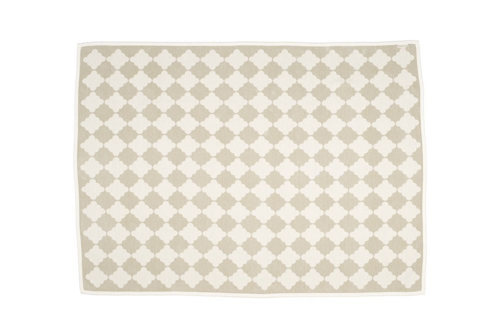 Pappelina Blanket Marre in sand and vanilla