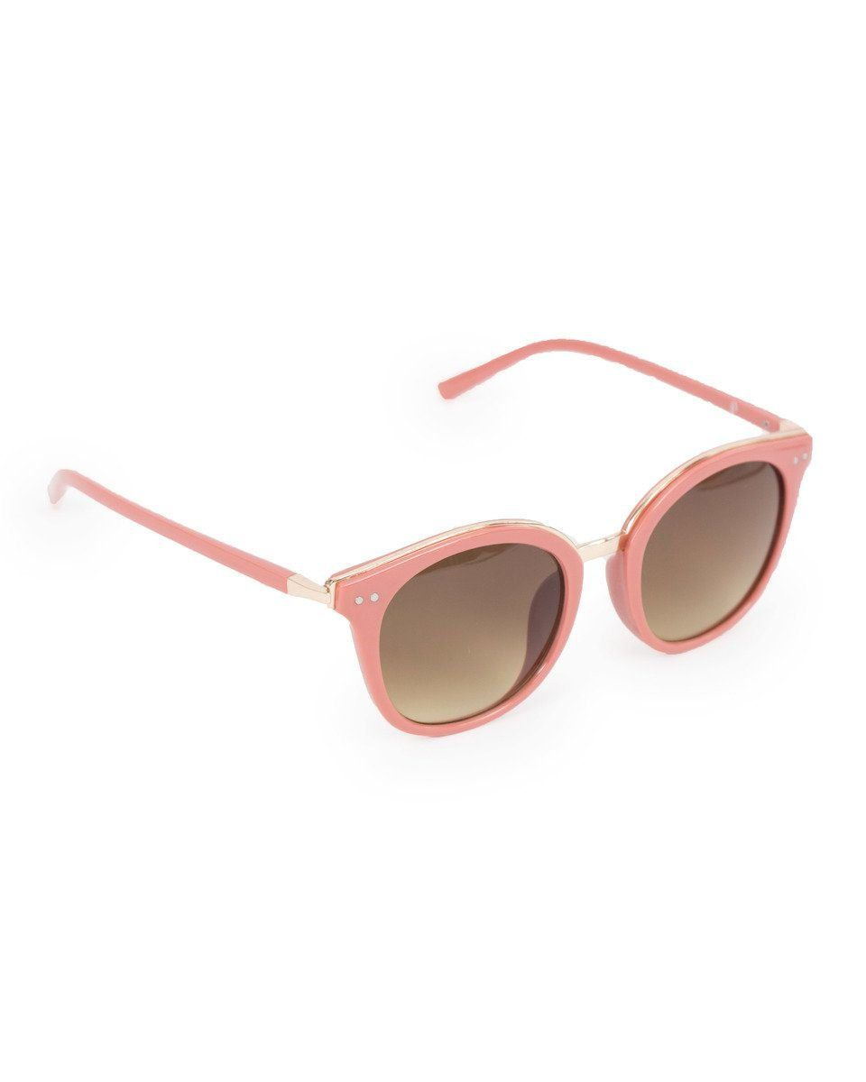 Powder Adele Sunglasses in Coral/Gold