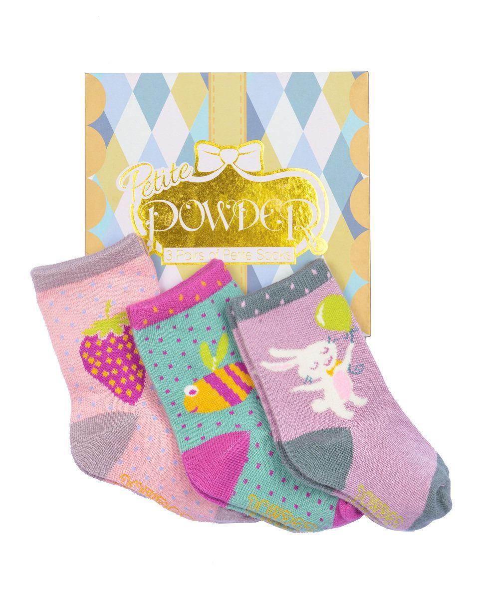 Baby Girl Sock Gift Box - 3 Pairs