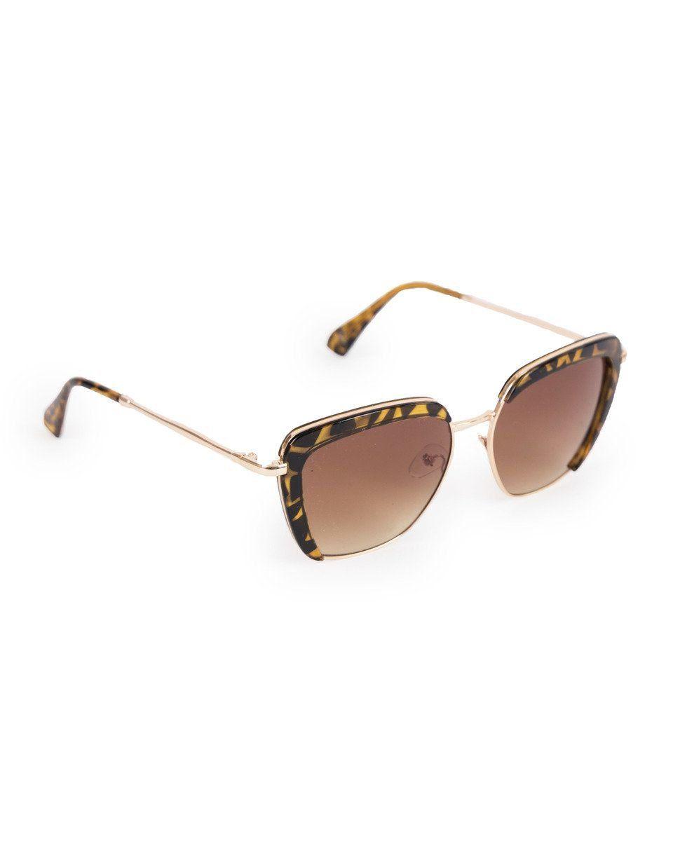 Powder Bardot Sunglasses in Mocha Tortoiseshell