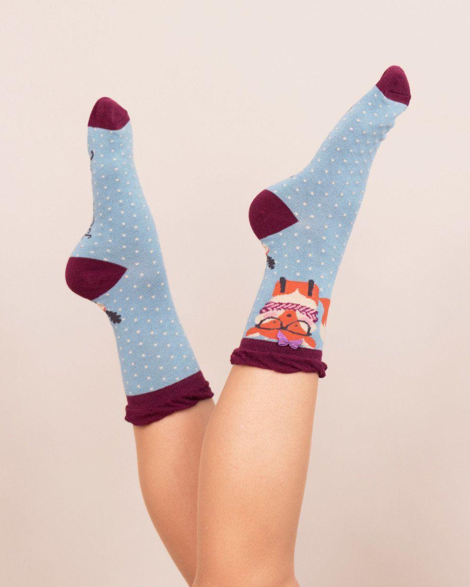 Powder Nerd Fox Ankle Sock in Ice