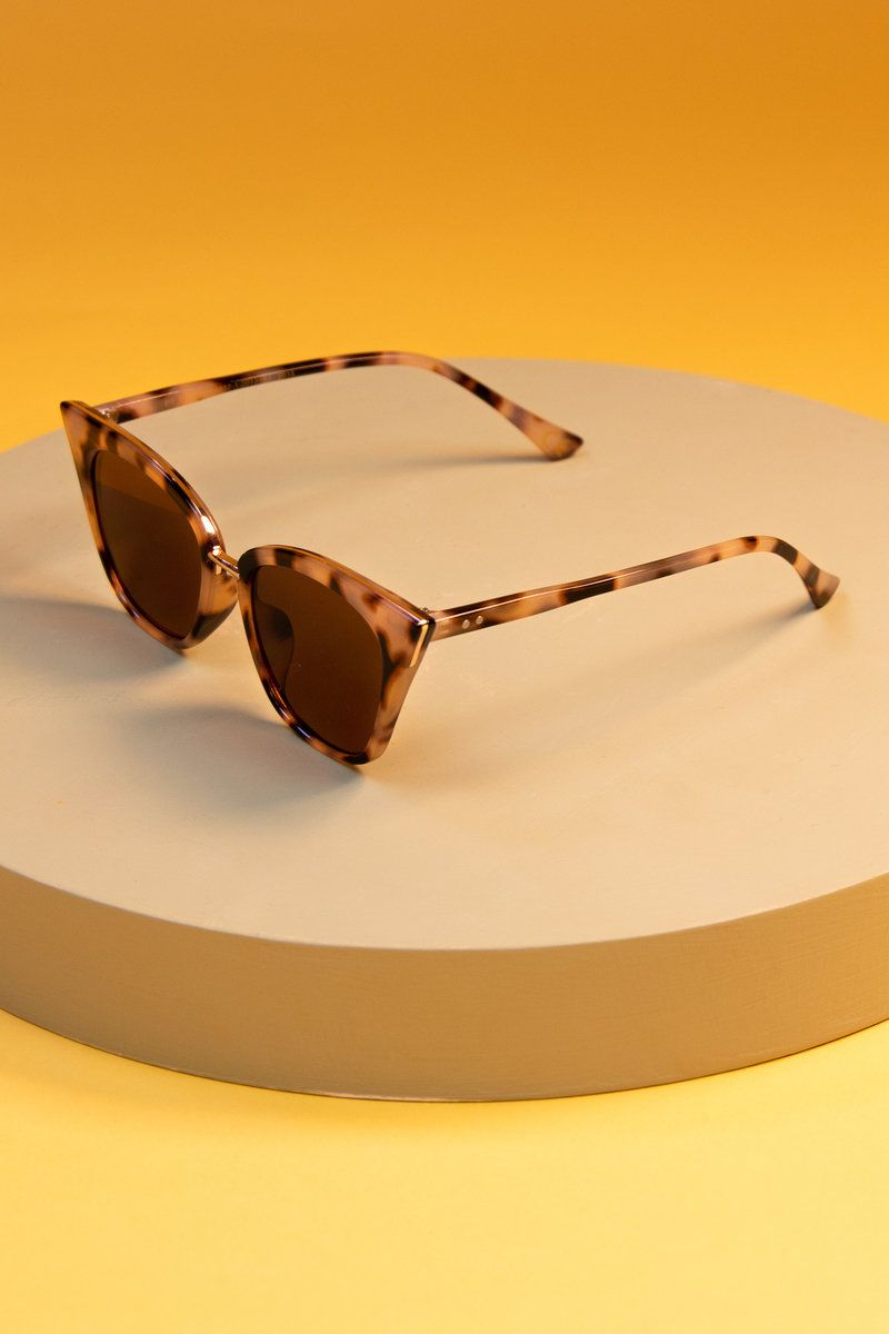 Powder Sophia Sunglasses in Tortoiseshell
