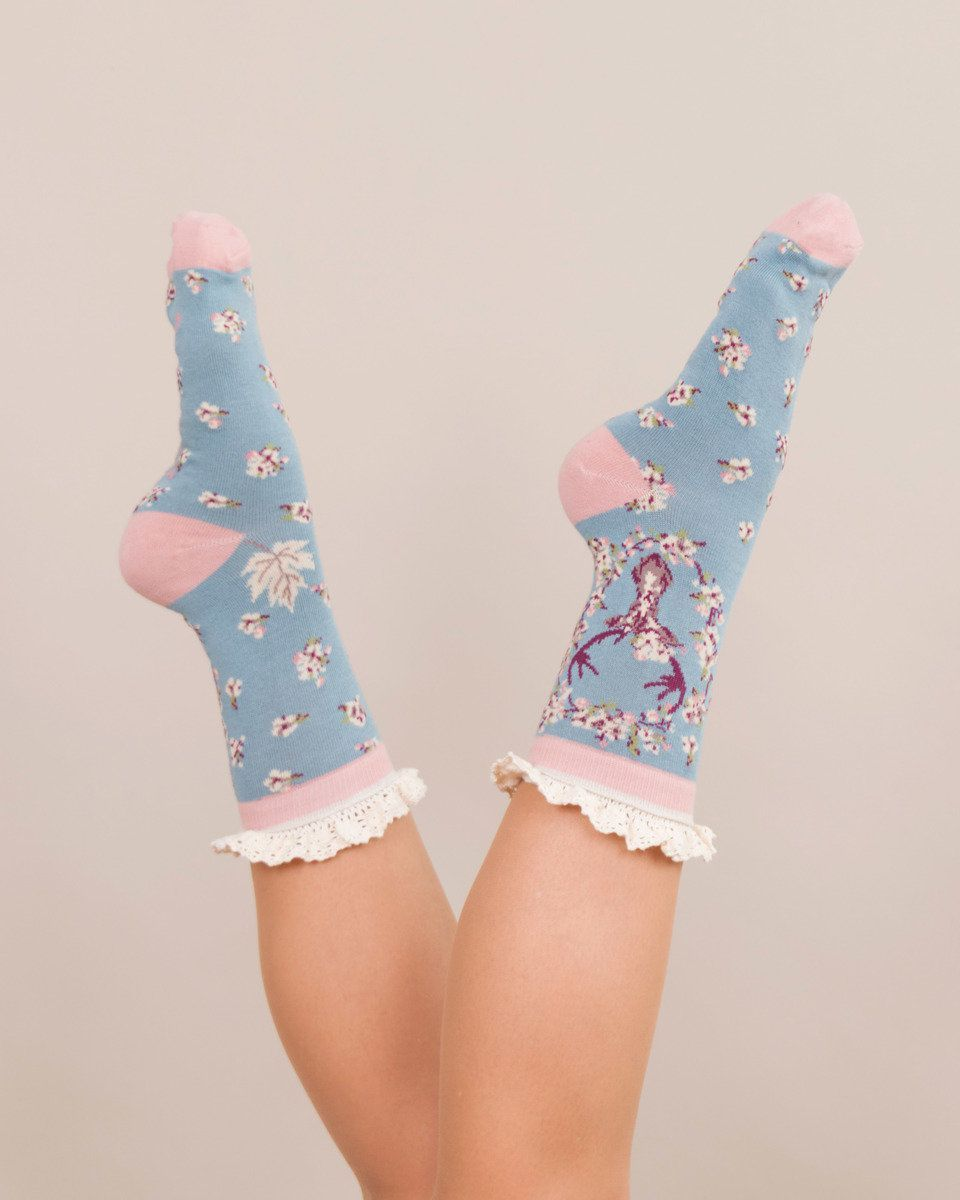 Powder Stag Ankle Sock in Ice