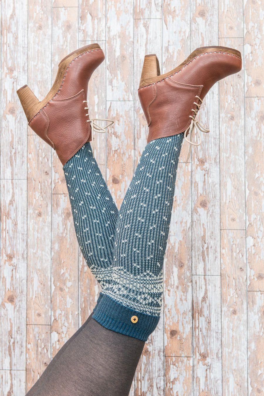 Powder Icelandic Socks in Teal