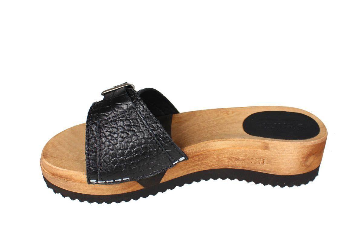 Sanita Ragna Flex Black Embossed Leather