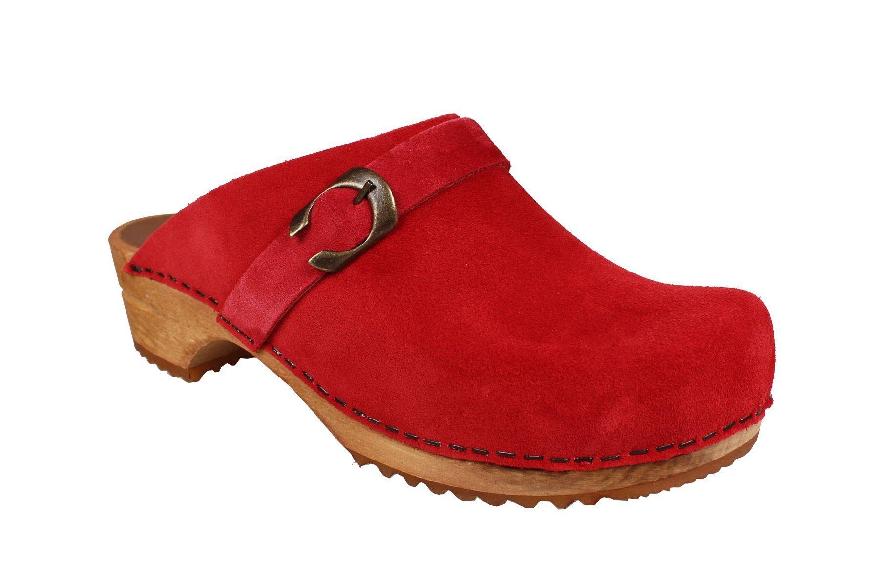 Sanita Hedi Classic Clog in Red Suede
