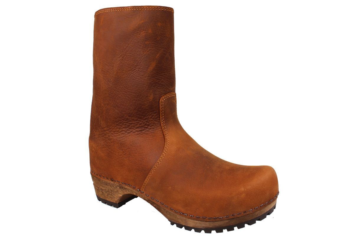 Sanita Risotto Boots in Cognac Soft Oil Leather