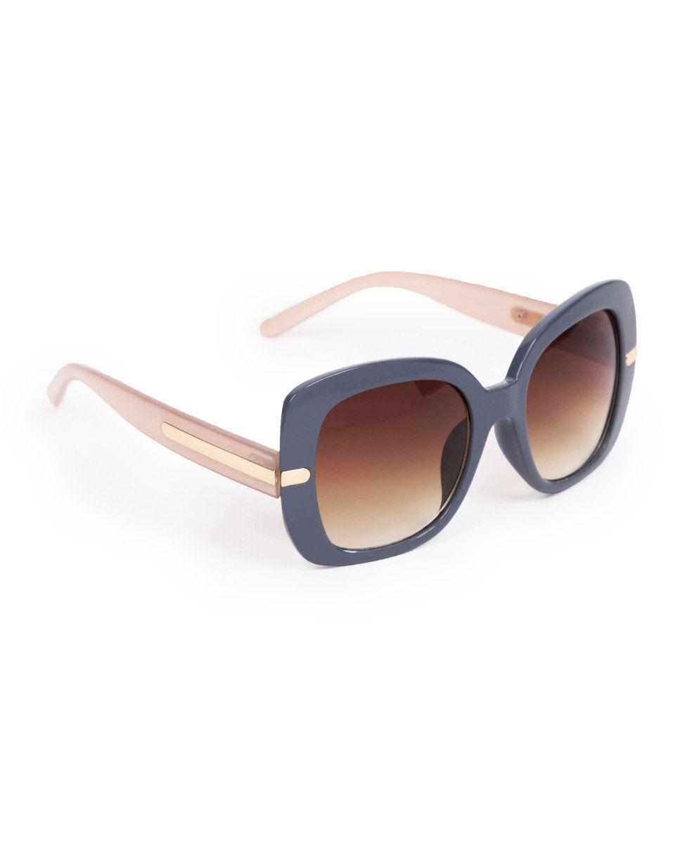 Powder Roxanne Sunglasses in Indigo/Beige