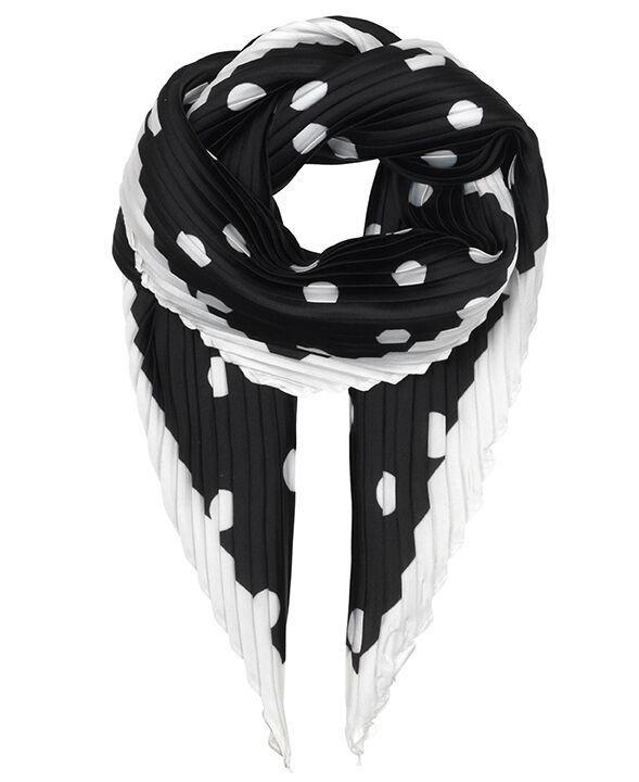 Unmade Copenhagen Vivian Plisse Scarf in Black