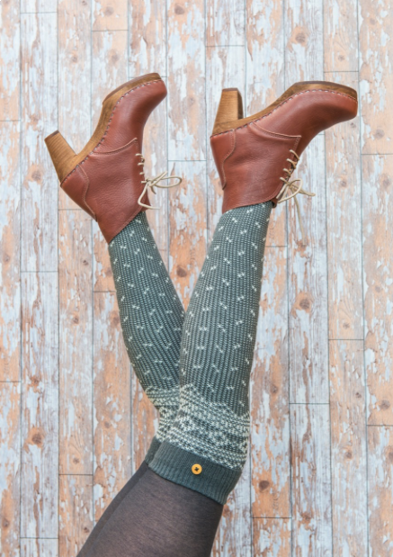 Powder Icelandic Socks in Slate