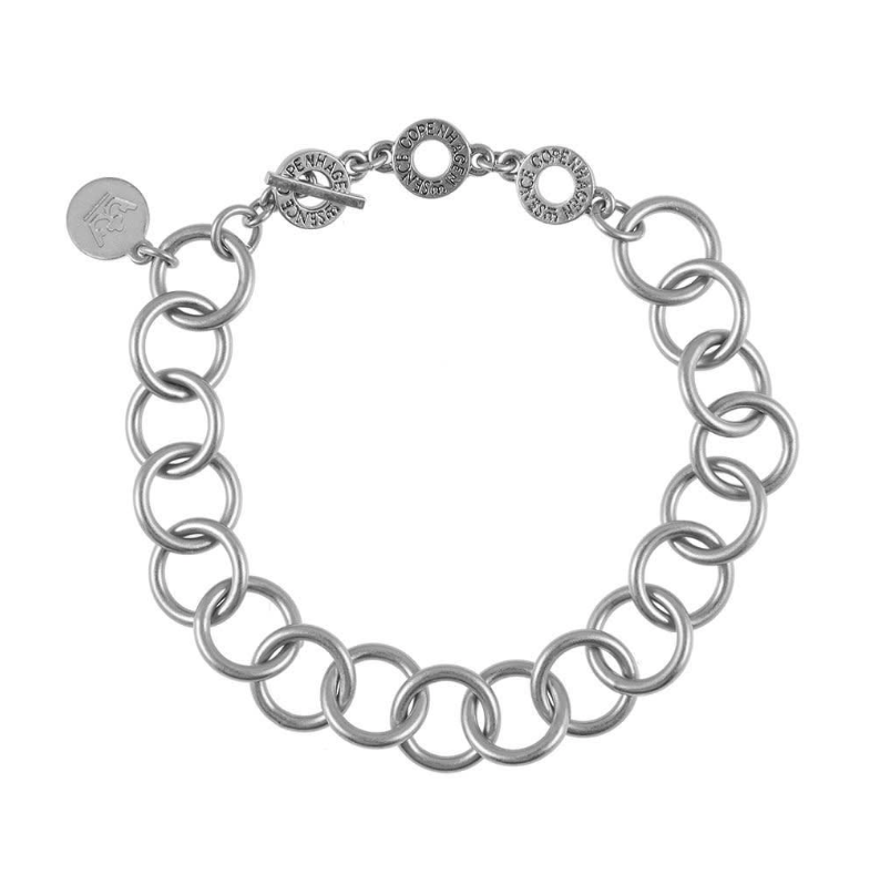 Sense Essentials Matt Silver Chain Bracelet