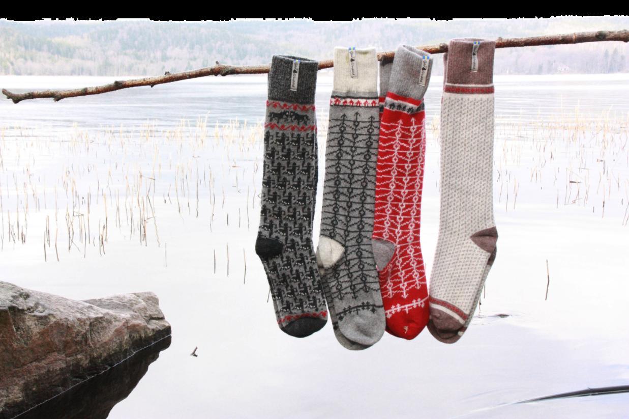 Öjbro Ekshärad Gra Wool Sock