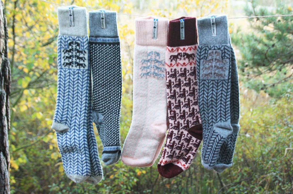 Öjbro Gotland Rosa Wool Sock