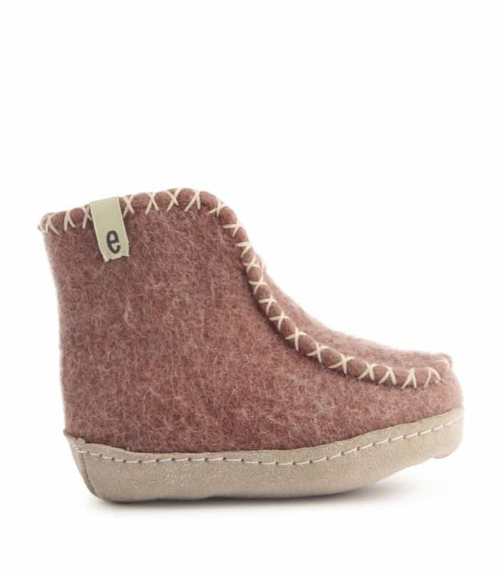 Egos Copenhagen Kids Indoor Boot in Dusty Rose