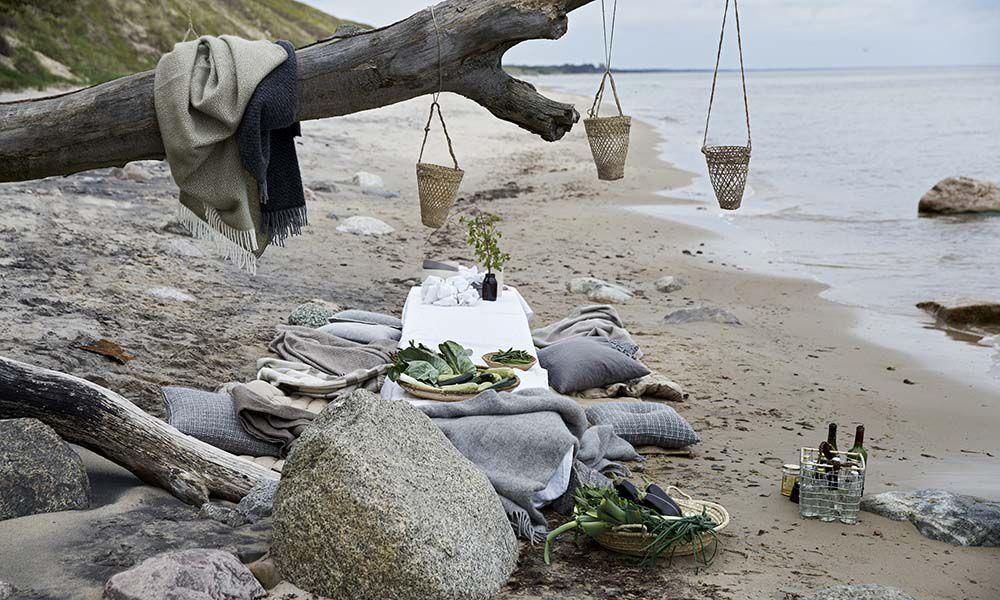 Klippan Björk Grey 100% Lambswool Blanket