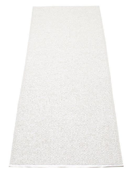 Svea Metallic White White