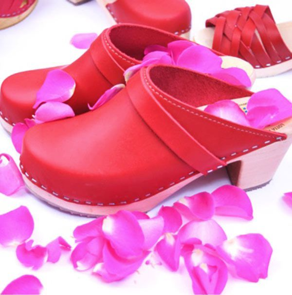 High Heel Classic Clog Red