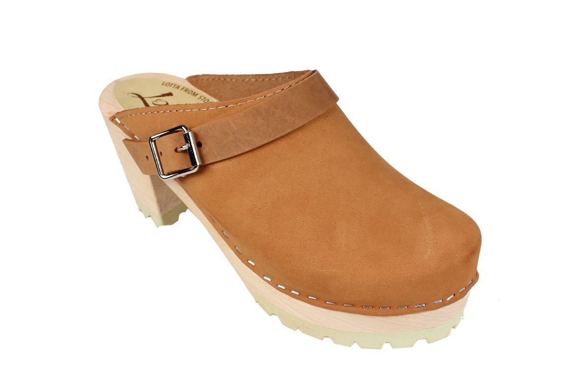 High Clog Tractor Sole Brown Oiled Nubuck Seconds